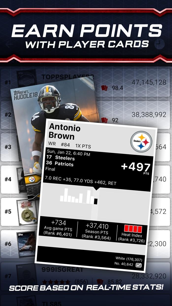 NFL HUDDLE: Card Trader Screenshot