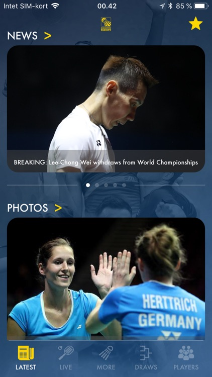 Badminton Live - rank & scores screenshot-1