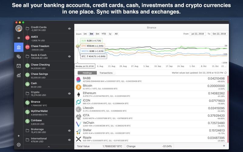 MoneyWiz 3 - 法定货币和加密货币