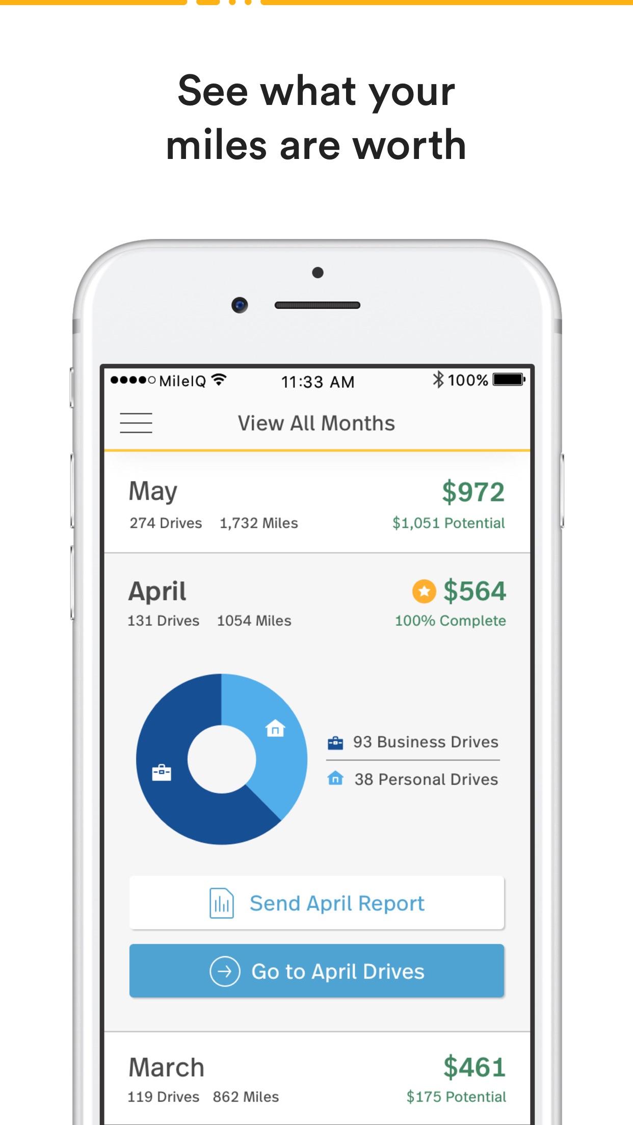 MileIQ Mileage Log and Tracker Screenshot