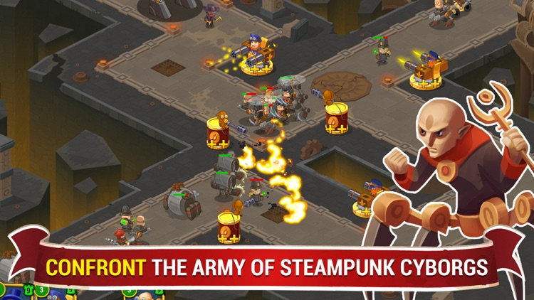 Steampunk 2 Pro: Tower Defense screenshot-0
