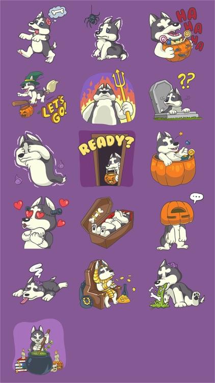 Playful Husky Halloween