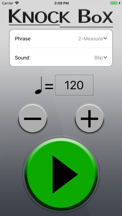 Knock Box Metronome screenshot one