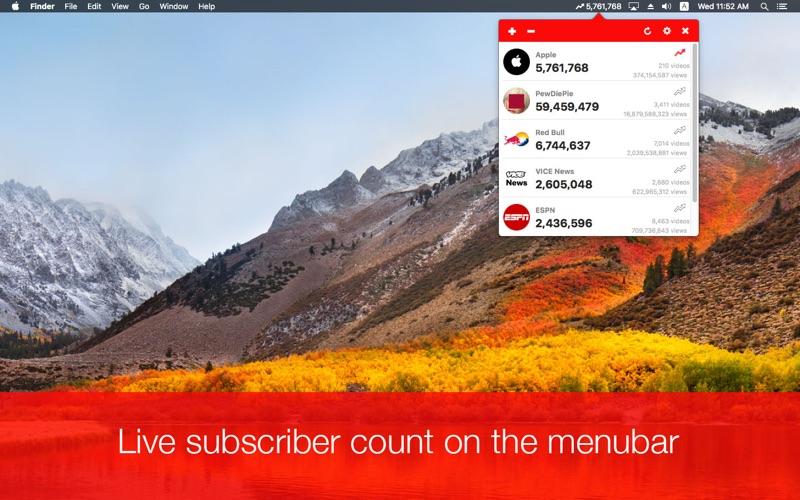 点击获取Subscriber Count for Youtube