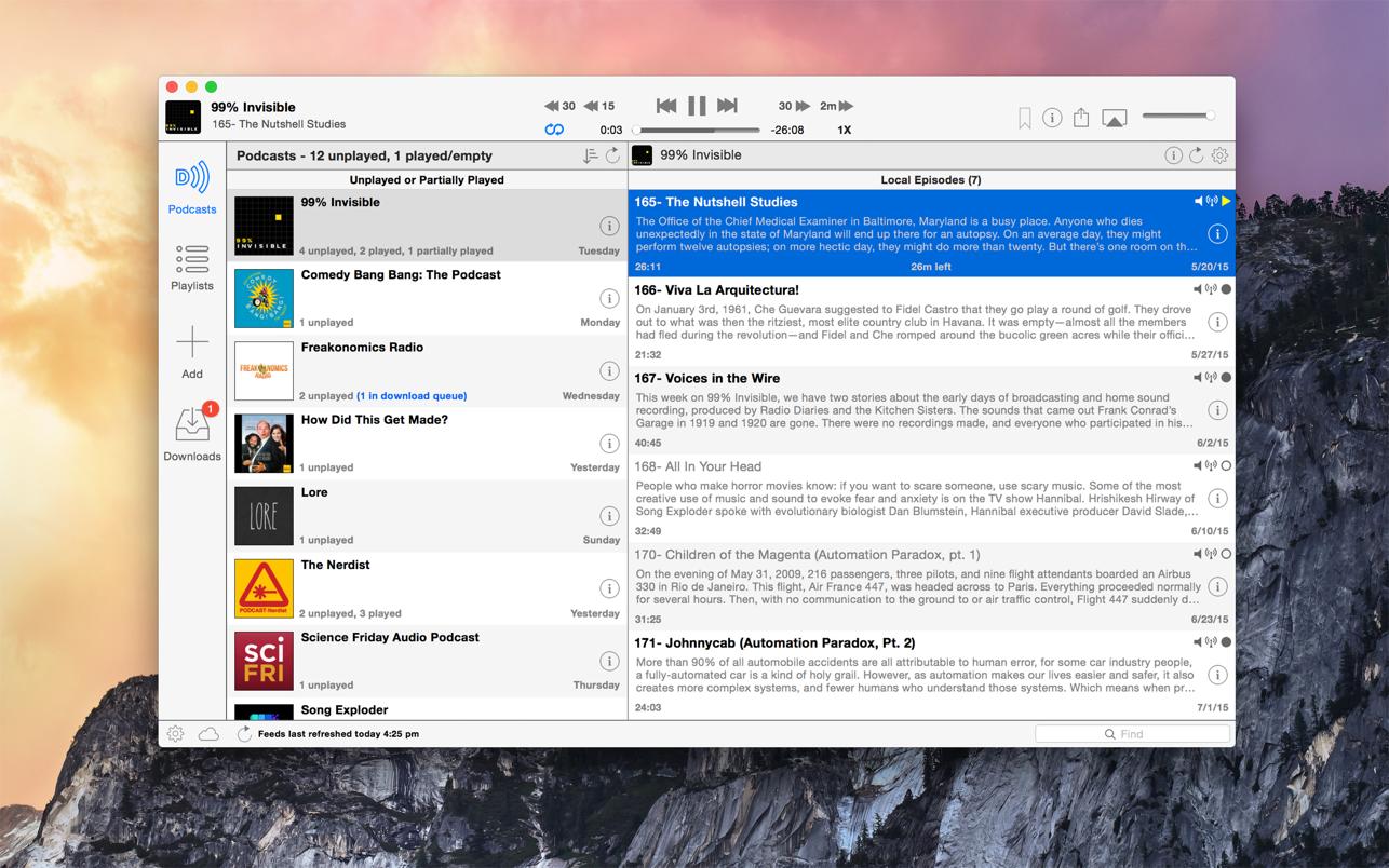 Downcast Mac 破解版 Podcast视频订阅下载工具-麦氪搜(iMacso.com)