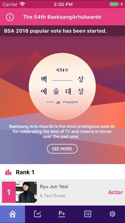 54th BaekSang Arts Awards VOTE