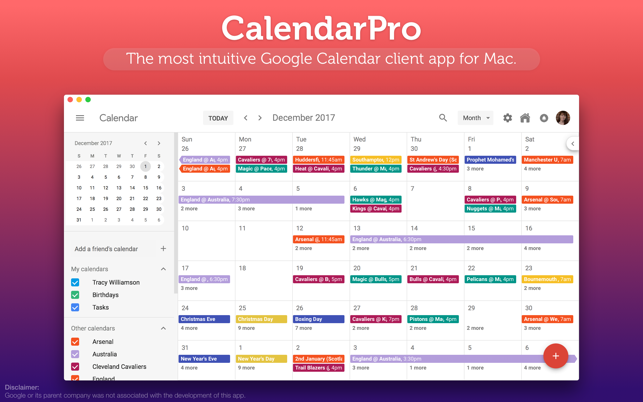 CalendarPro for Google Screenshot