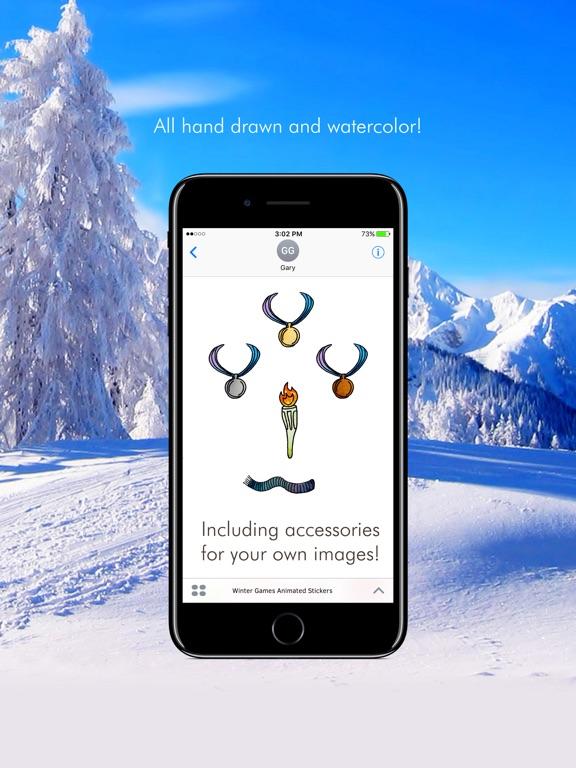 Winter Games Animated Stickers screenshot 6