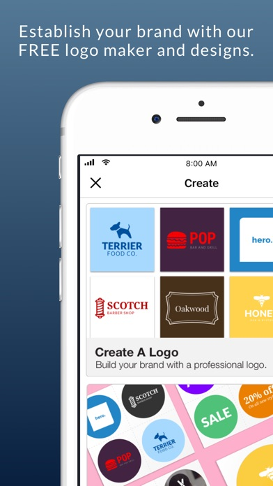 Business Card Maker & Logo App