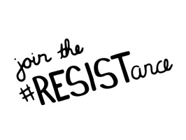Join the resistance and express yourself using these hand drawn slogans