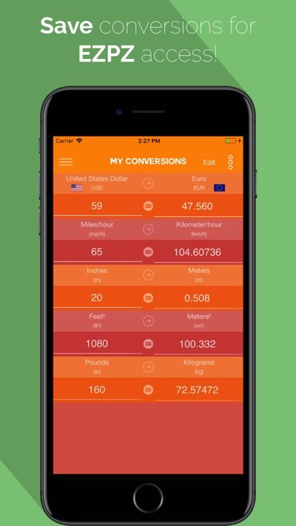 EZPZ Unit Converter screenshot-3