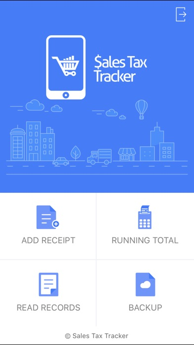 Sales Tax Tracker app