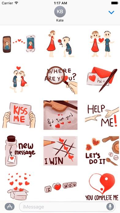 Love Messages Lovemoji Sticker screenshot 2