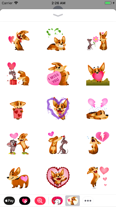 Animated Biscuit in Love Emoji screenshot one
