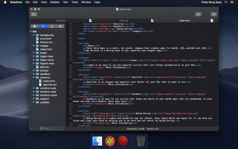 Smultron 11 - Text editor Screenshots