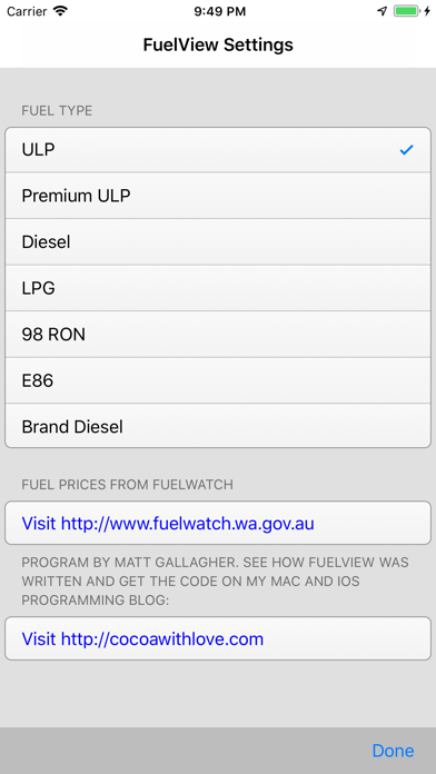FuelView screenshot three