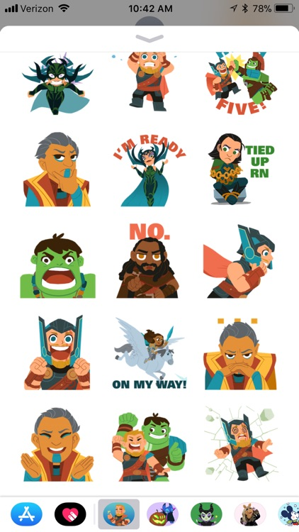 Marvel Stickers: Thor Ragnarok screenshot-1