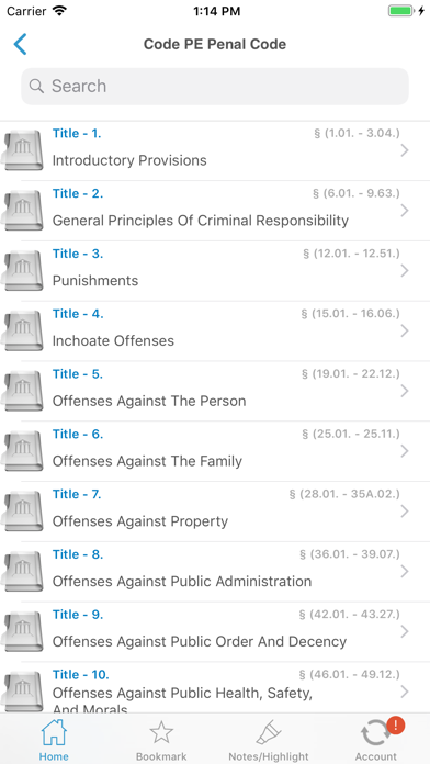 TX Laws, Texas Statutes Codes Screenshot