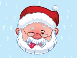 Get it in time for Christmas with these cute Santa Stickers