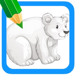Animal Polar Bear And Friends Coloring Book