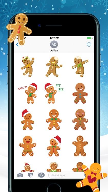Gingerbread Christmas Stickers screenshot-3