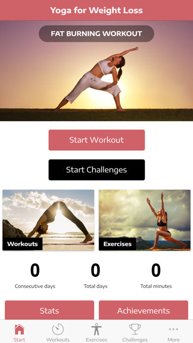 Yoga Workouts for Weight Loss screenshot one