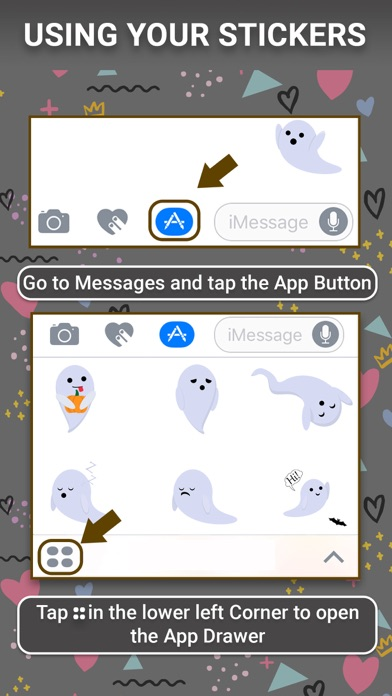 Ghost: Animated Stickers screenshot one