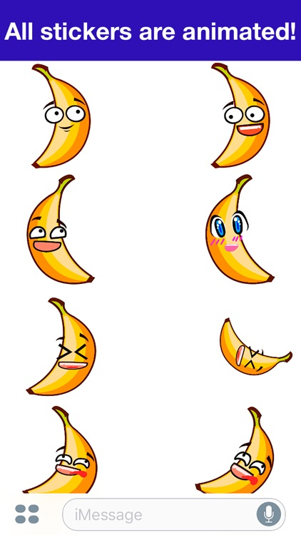 Banana Animated -Cute stickers screenshot-1