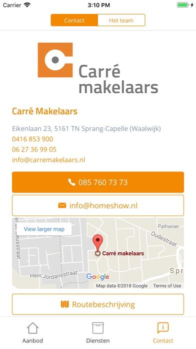 Carré makelaars Screenshot