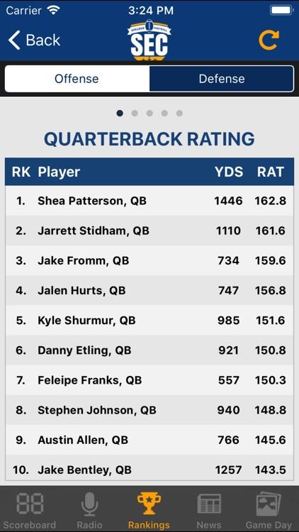 SEC Football Scores screenshot-4