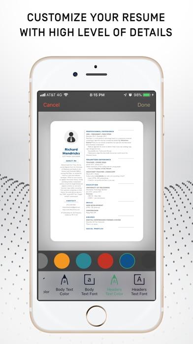 Resumer: CV & Resume builder screenshot 2