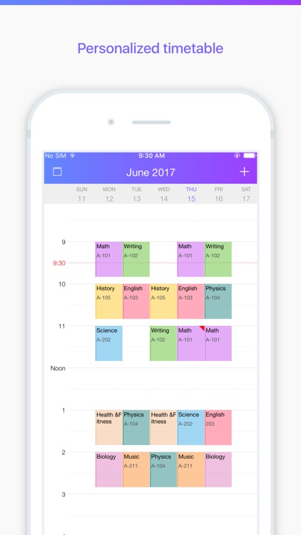Pocket Schedule Planner