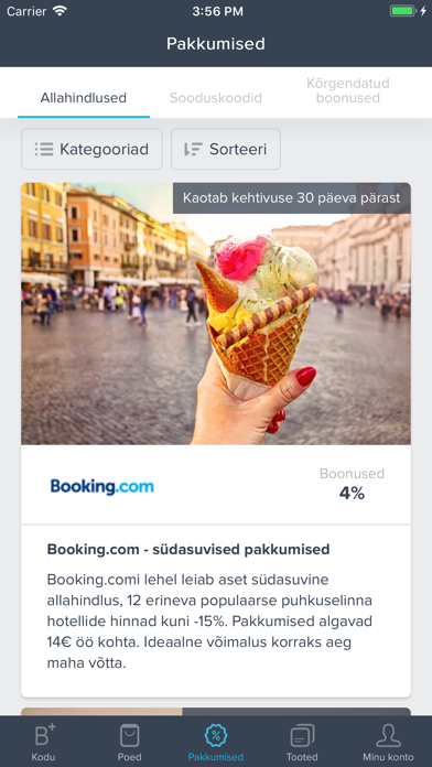 Bonusway Eesti: Cashback app screenshot four