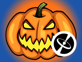30 cool stickers for Halloween with pumpkins