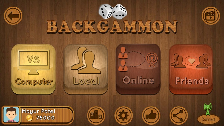 Backgammon : Multiplayer Game screenshot-0