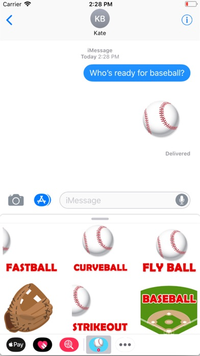 Animated Baseball Stickers screenshot 1
