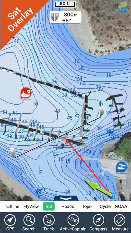 Franklin D. Roosevelt lake GPS map fishing charts