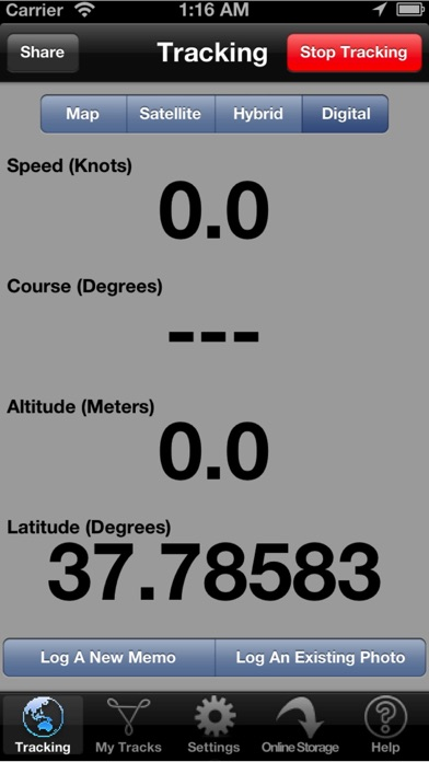 Powerboat GPS Data Logger screenshot two