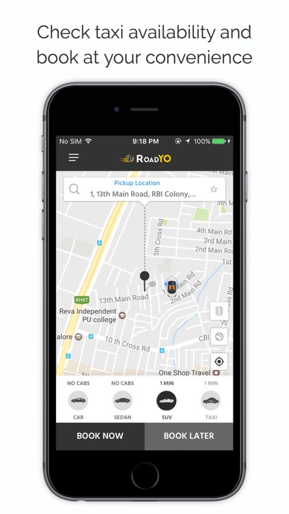 Roadyo - For On-demand Taxi Booking