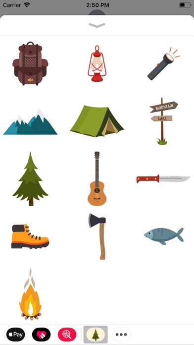 Screenshot for Camping Stickers in Australia App Store