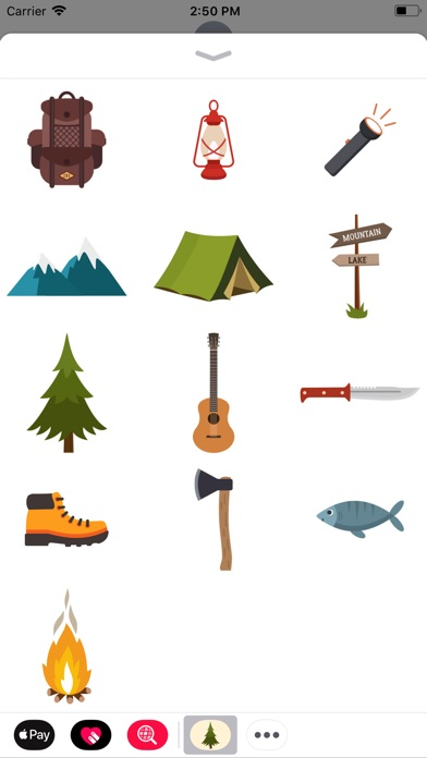 Screenshot for Camping Stickers in Pakistan App Store