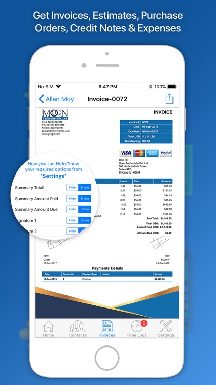 Moon Invoice – Easy Invoicing screenshot-0
