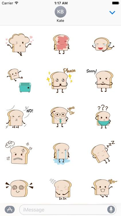 Animated Cute Toast Sticker