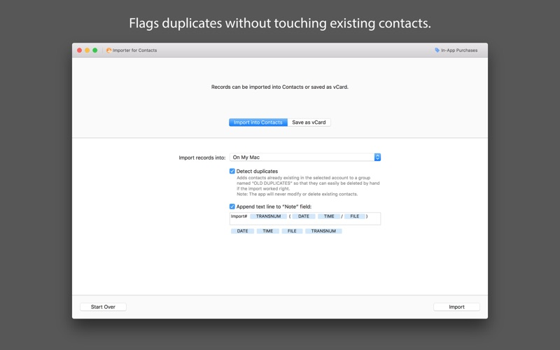 Importer for Contacts for Mac