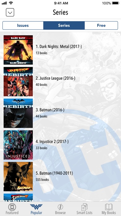 Screenshot for DC Comics in United States App Store