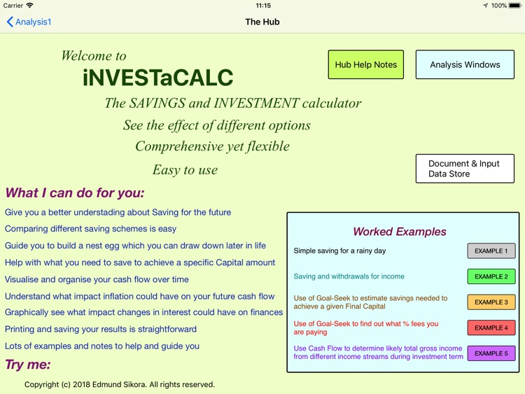 iNVESTaCALC screenshot-0