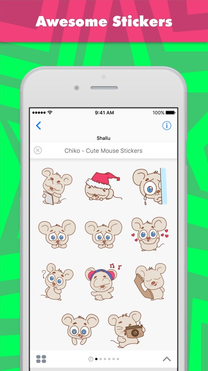 Chiko - Cute Mouse Stickers