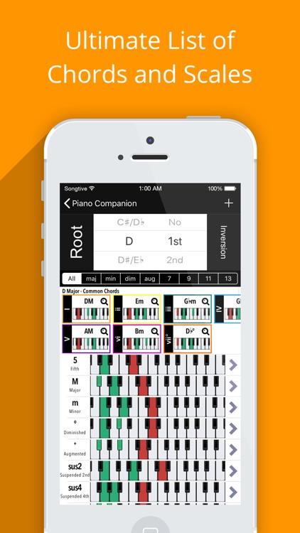 Piano Companion PRO: chords screenshot-3