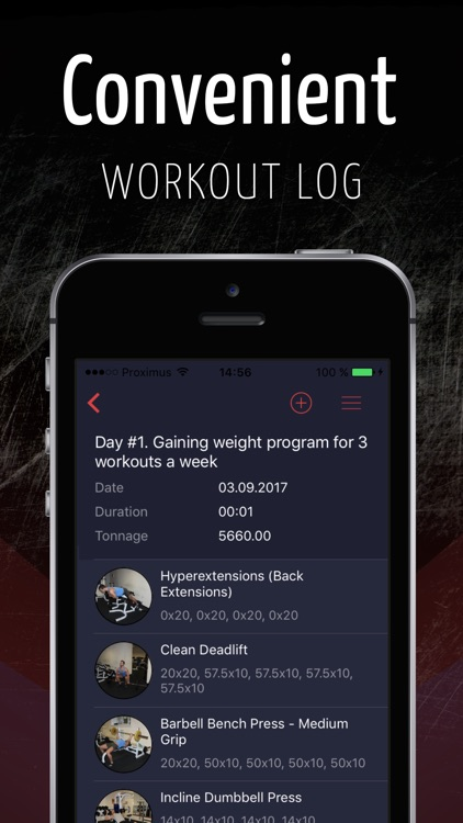 GymUp - workout notebook