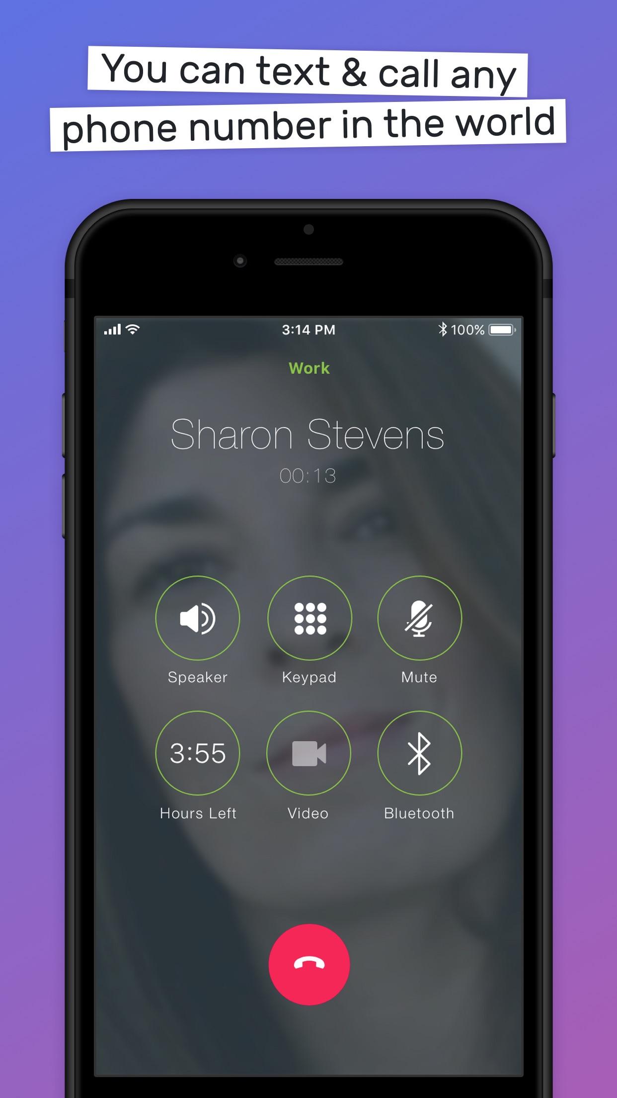 TextMe Up  Second Phone Number Screenshot